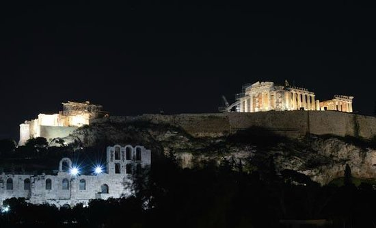Acropolis View Hotel : Вид на Акрополь с террасы