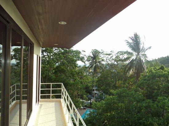 Kata Mountain Inn: view from my friends room on Ist floor