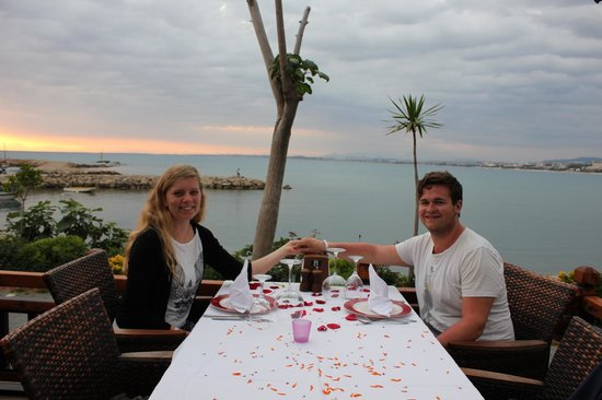 Side Orfoz Restaurant: Our honeymoon table at Ozfor.