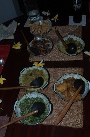 Horathapola Estate: Dinner