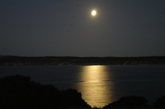 Searenity Holiday Accommodation: Moonrise view