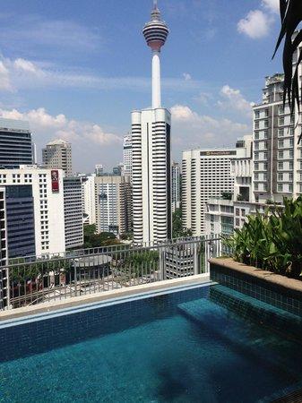 Ascott Kuala Lumpur: view from the pool