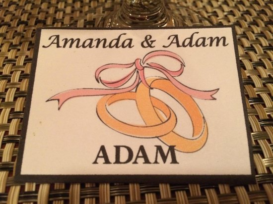 Salt N Pepper Bistro : Wedding Name Card