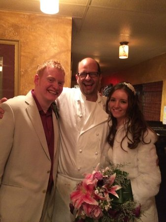 Salt N Pepper Bistro : Me & my wife with Chef Jean-Claude