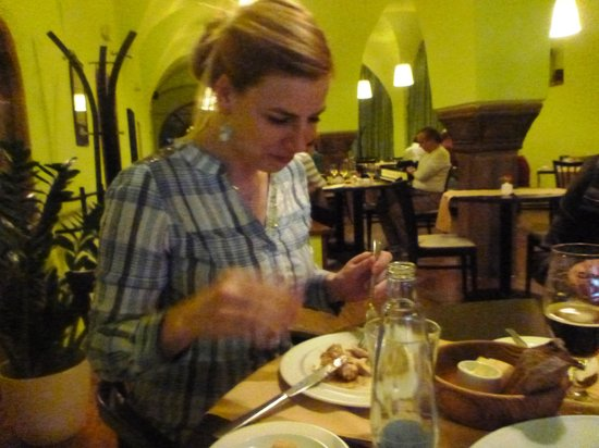 Restaurace Tři Knížata : great food  says Dasa and she knows what is good