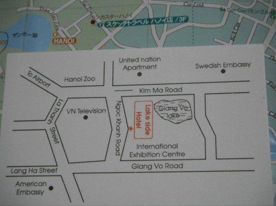 Lake Side Hotel: ホテルの地図です。