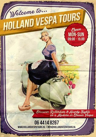 Holland Vespa Tours: Open 7 days a week, located near Rotterdam Central Station