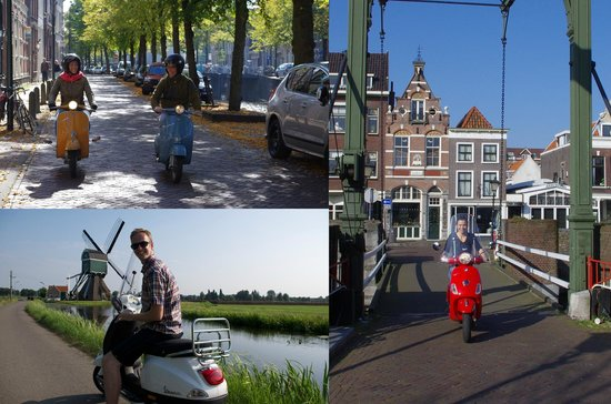 Holland Vespa Tours: Enjoy the highlights of Rotterdam, nearby countryside or visit the cheese city Gouda