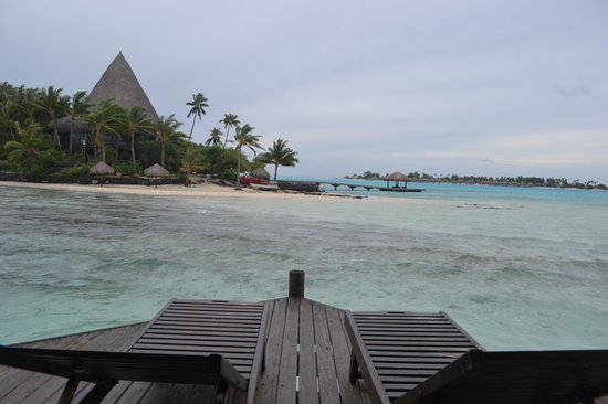 Sofitel Bora Bora Private Island : View from overwater bungalow deck