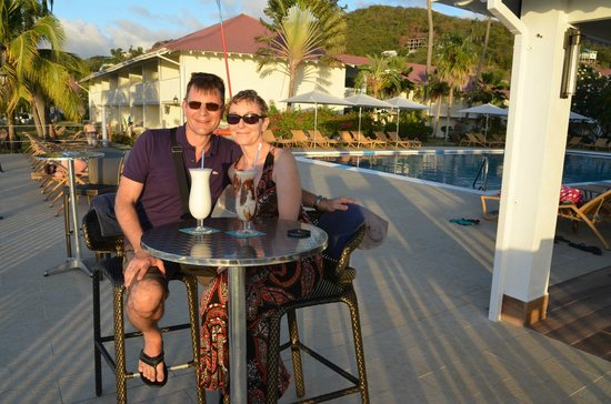 Radisson Grenada Beach Resort : Sunset an der Sunset-Bar