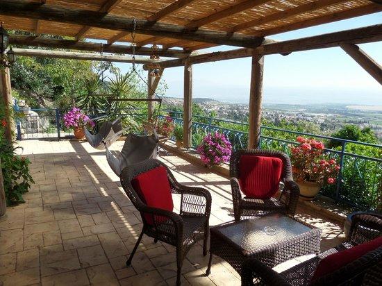 52. My room terrace at Hameiri Estate B&B, Rosh Pina.