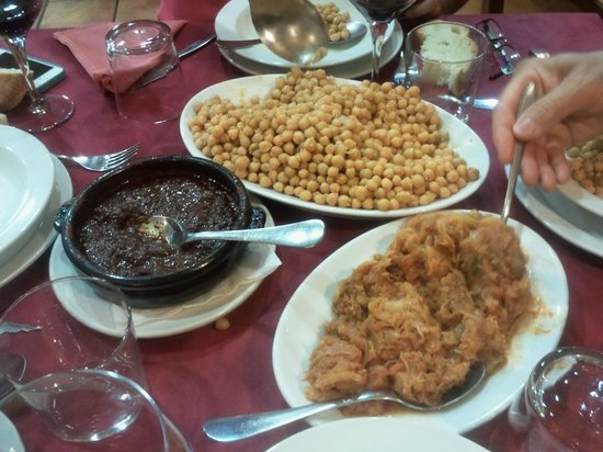 Restaurante Sorrento : Garbanzos, morcilla y berza