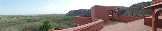 Castle Jhoomar Baori: Terrace top level