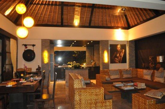 The Zala Villa Bali: the living-dining area