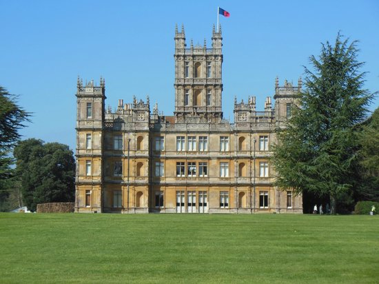 Highclere Castle - view from nearby bench