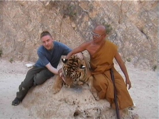 Tiger Temple ( Wat Pa luang Ta Bua): The head monk gets a Tiger to lick your hand.