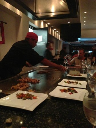 Dreams Riviera Cancun Resort & Spa: Himitsu show cooking