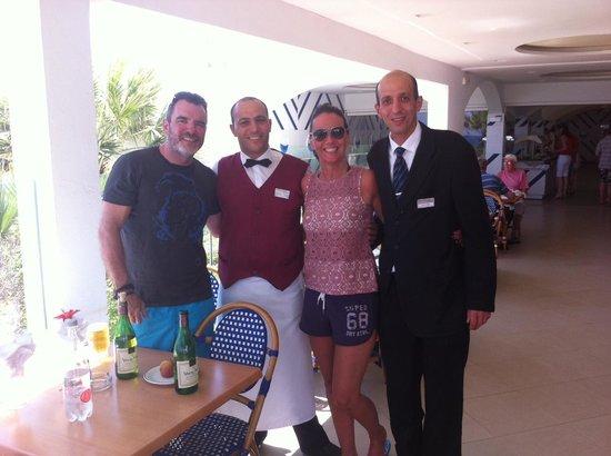 SENTIDO Aziza Beach Golf & Spa: Ourselves and Ezzi
