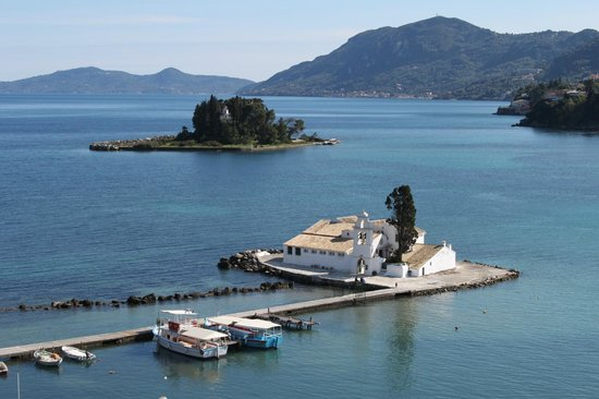 Corfu Holiday Palace: View from local bar and hotel's own Ma Cococette bar