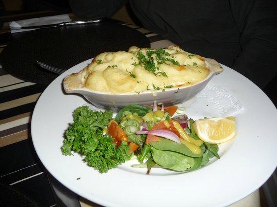 Blackberry Cafe : gratin saumon pommes de terre et poireaux