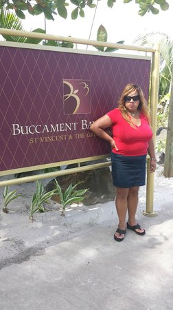 Buccament Bay Resort: Entrance Gate