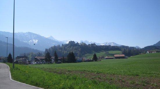 Château de Gruyères : El castillo desde la distancia
