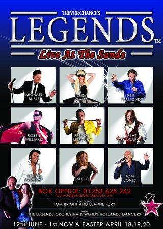 Legends Blackpool : Legends 2014 Poster - Book Now on 01253 625 262