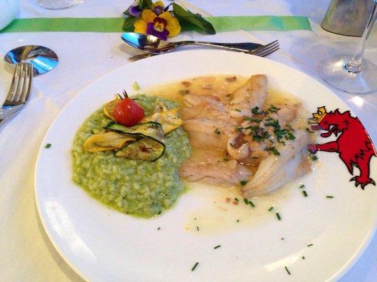 Hotel Murtenhof & Krone : Eglifilet mit Bärlauchrisotto