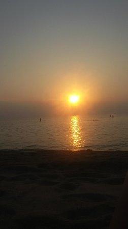 Seetanu Bungalows: coucher de soleil vu de la terrasse