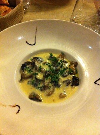 Restaurant Le Bacchus: Escargots cèpes