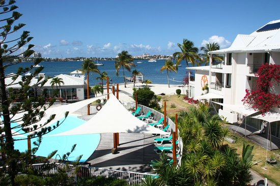 Hôtel Mercure Saint-Martin Marina & Spa : Blick vom Balkon