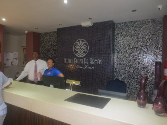 Hotel Plaza De Armas Old San Juan: Hotel Front Desk and Luis the Manager