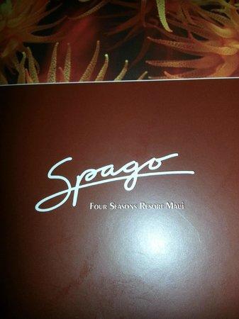 Spago: Menu cover