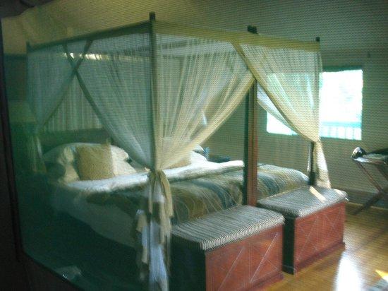 Botlierskop Private Game Reserve: Luxury Tented Suite - Bedroom (taken through mesh window)