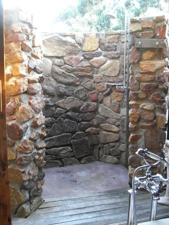 Botlierskop Private Game Reserve: Luxury Tented Suite - Bathroom (out door shower for two)