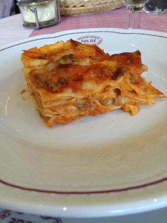 Hotel Nilde : lasagna