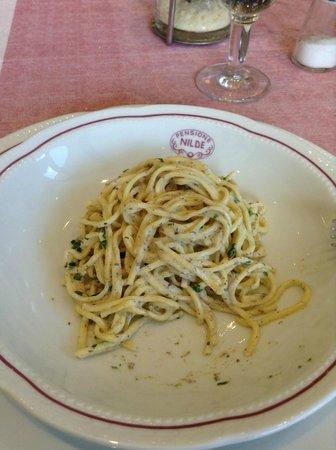 Hotel Nilde : spaghetti funghi