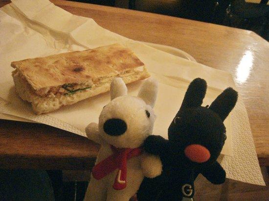Cosi: SALMO(サーモンとカッテージチーズのサンド)