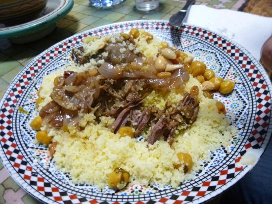 Restaurant Tissemlal o Casa Hassan: Plato de kouskus