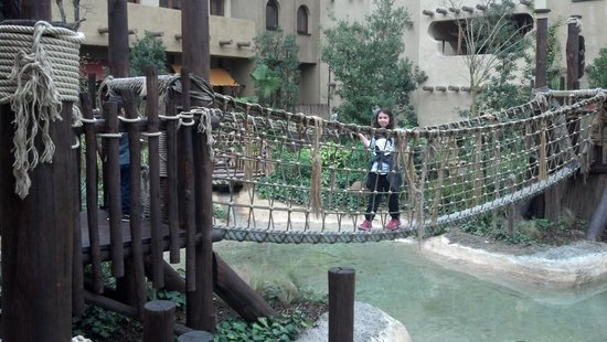 Hotel Village Matamba: The Bridge in the hotel gardens