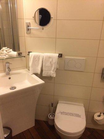 Hôtel Aux Remparts : Badezimmer