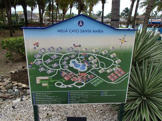 Melia Cayo Santa Maria: Map