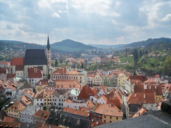 Historic Center of Cesky Krumlov : view from top of the building