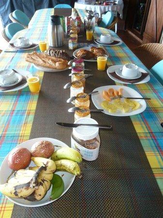 Villa Rayon Vert : petit déjeuner très copieux!