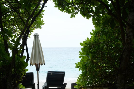 Banyan Tree Seychelles: The view from our bed