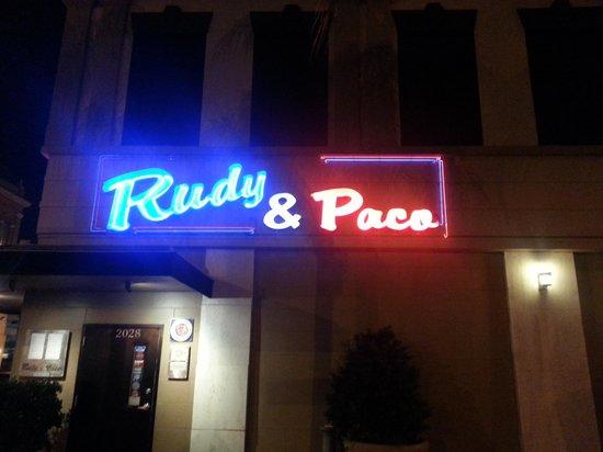 Rudy & Paco Restaurant & Bar : The location