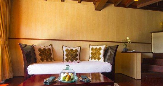 Kupu Kupu Barong Villas and Tree Spa: Living room