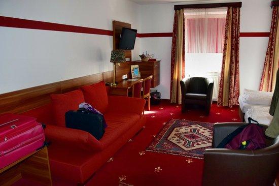 Hotel Burgschmiet: unser Zimmer