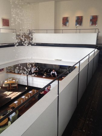 At The Chapel Restaurant: View from above