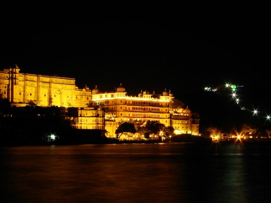Fateh Prakash Palace: Night View of Palace Complex